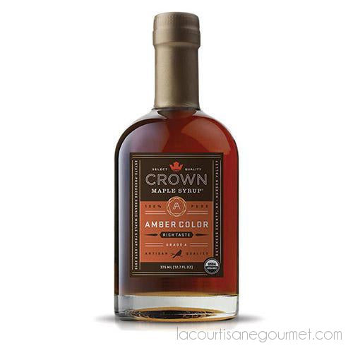 Crown Maple Amber Color Rich Taste Organic Maple Syrup, 12.7 Oz - Maple Syrup - La Courtisane Gourmet Food