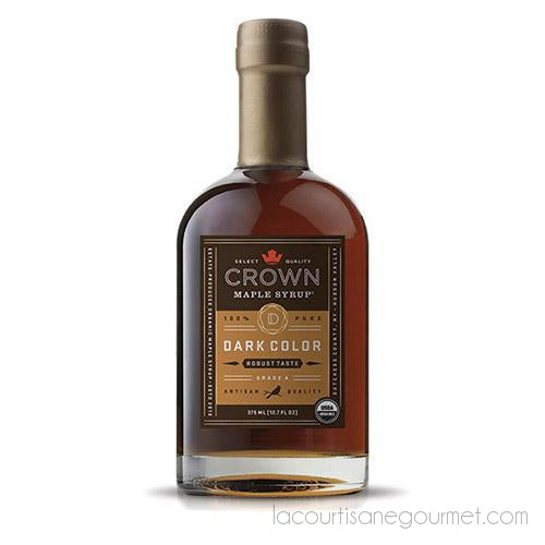 Crown Maple - Dark Color Robust Taste Organic Maple Syrup, 12.7 Oz - Maple Syrup - La Courtisane Gourmet Food