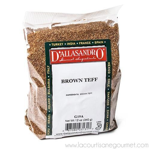 D'AlassandrO - Brown Teff 12 oz - Rice - La Courtisane Gourmet Food