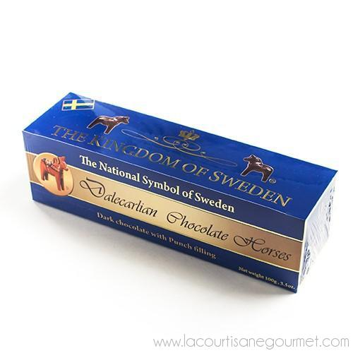 Dalecarlian Dark Chocolate Horses - with Punch Filling 3.5 oz - Chocolate - La Courtisane Gourmet Food