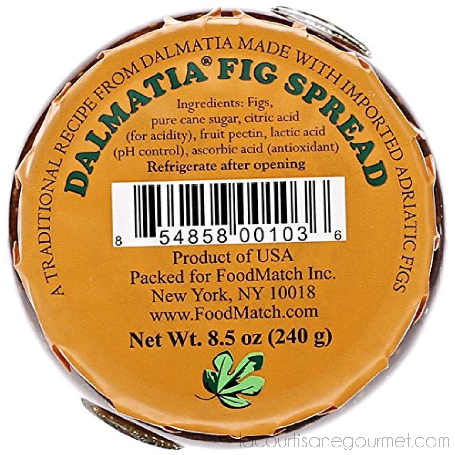 Dalmatia - Spread Fig, 8.5 Oz - Preserve - La Courtisane Gourmet Food