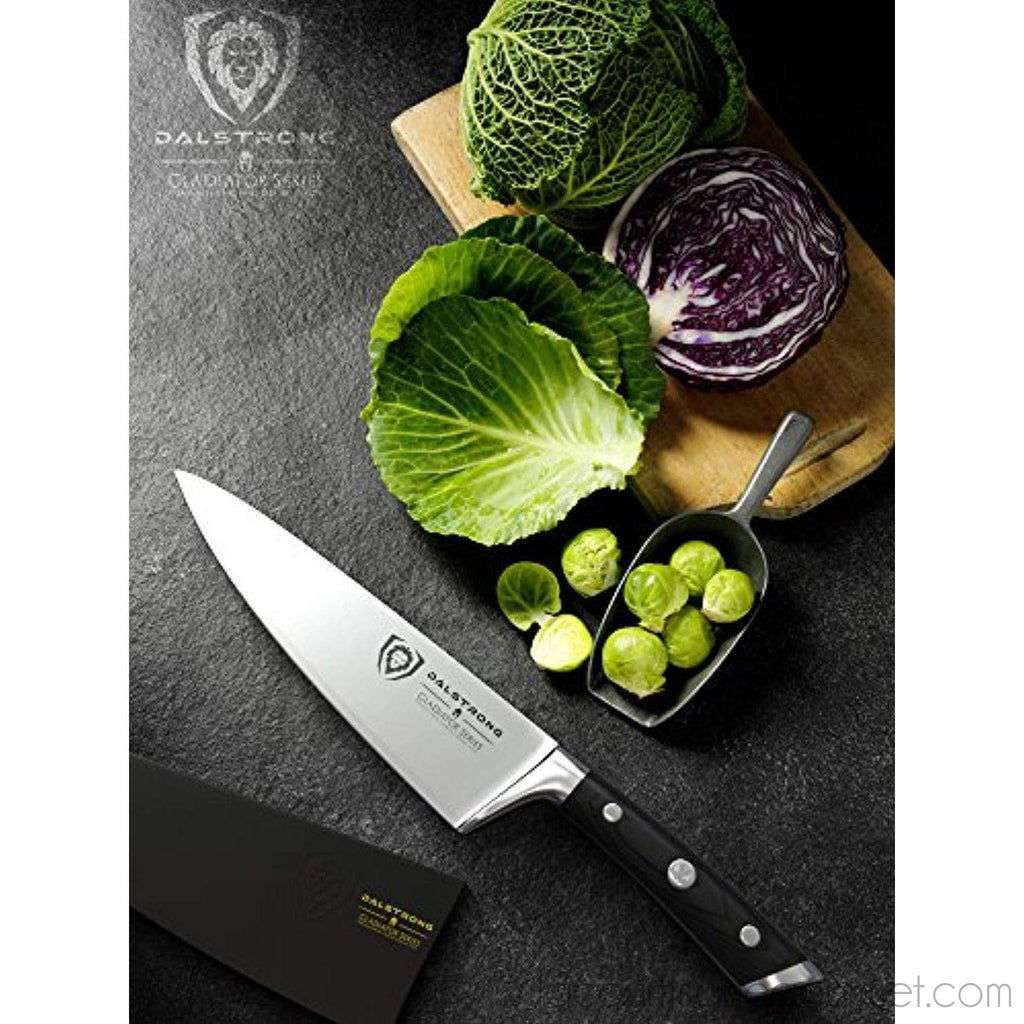 "Dalstrong Chef Knife - Gladiator Series - German Hc Steel - 8"" (200Mm) - - La Courtisane Gourmet Food"