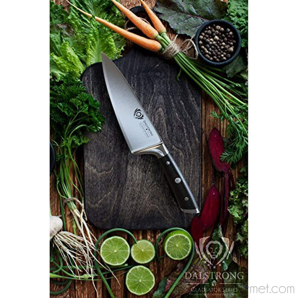 "Dalstrong Short Chef'S Knife - Gladiator Series - German Hc Steel - 6"" - - La Courtisane Gourmet Food"