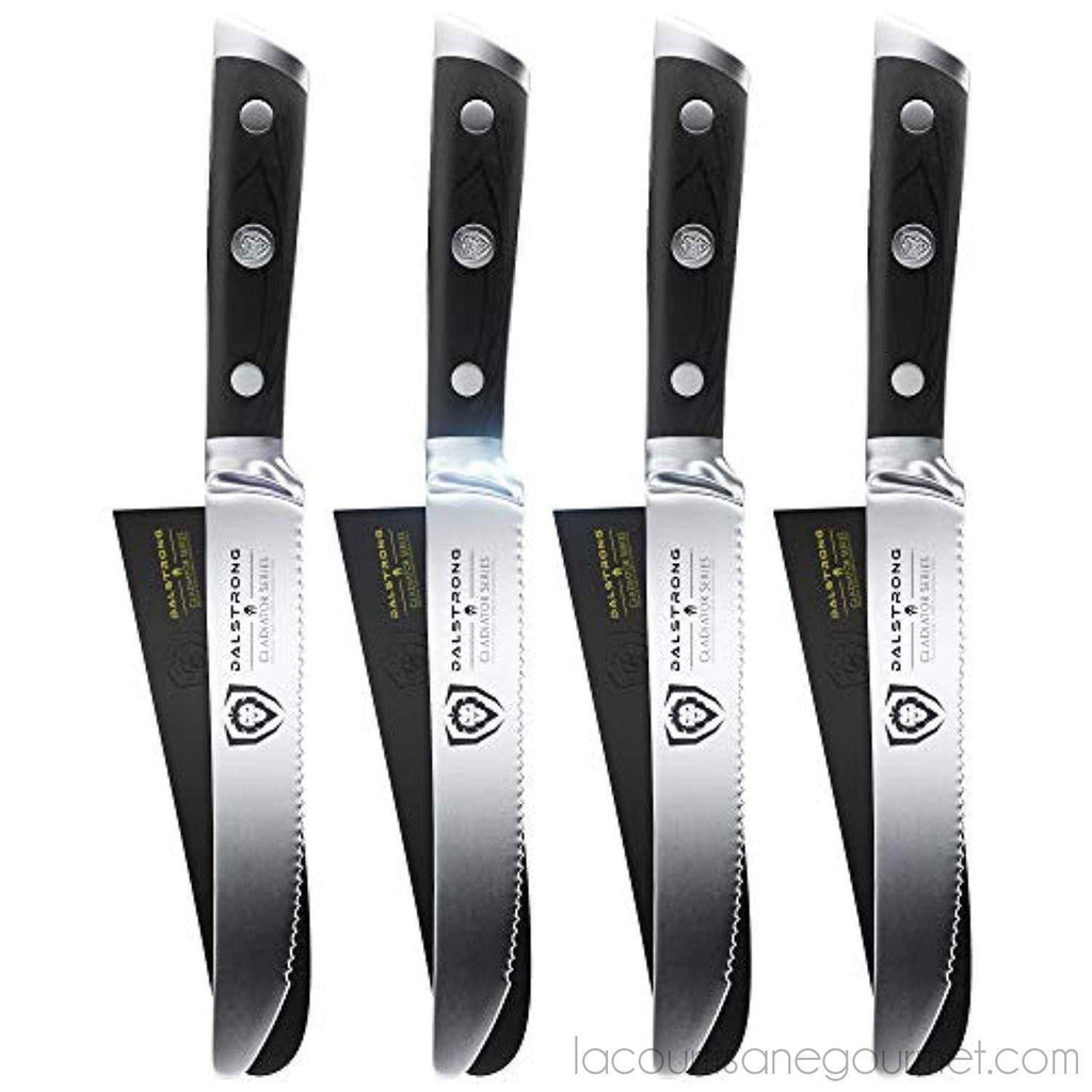 Dalstrong Steak Knives Set - Gladiator Series - German Hc Steel - W/Sheaths - - La Courtisane Gourmet Food