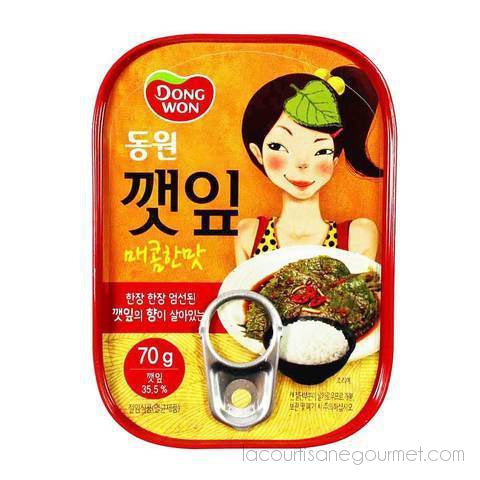 Dongwon - Spicy Sesame Leaves, 2.4 Oz - Sesame Leaves - La Courtisane Gourmet Food