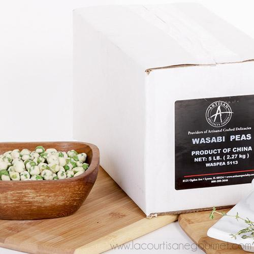 Dried Wasabi Green Peas - 5 LB - Snack - La Courtisane Gourmet Food