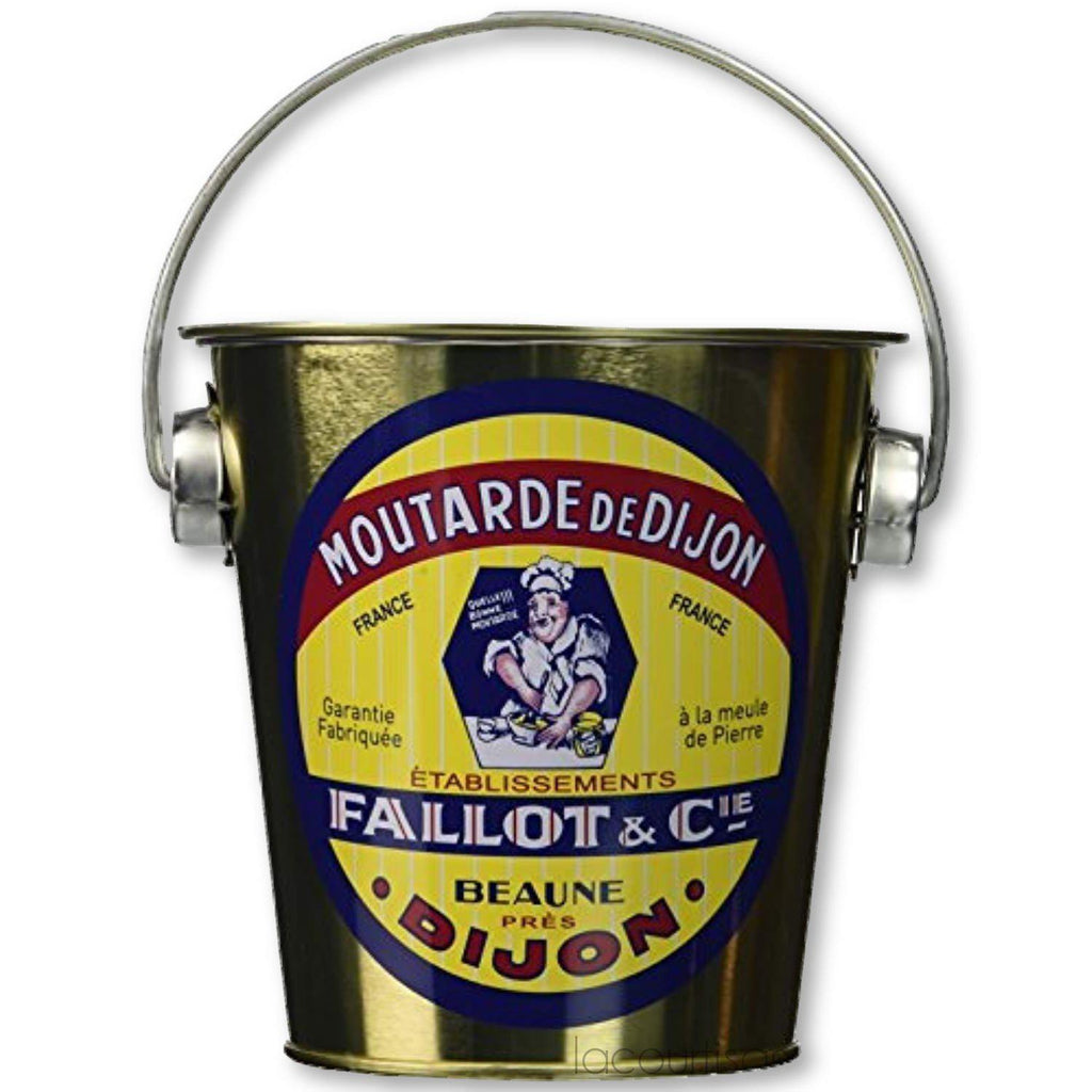 Edmond Fallot Dijon Mustard 15.8 Oz Jar Inside Tin Pail - Mustard - La Courtisane Gourmet Food