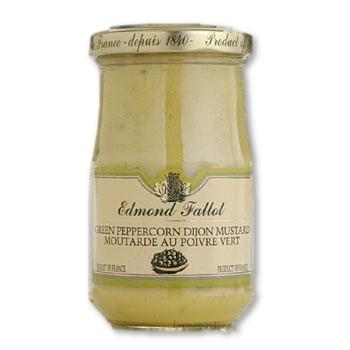 Edmond Fallot Green Peppercorn Dijon Mustard 7.4 Oz. (210 G) - Mustard - La Courtisane Gourmet Food