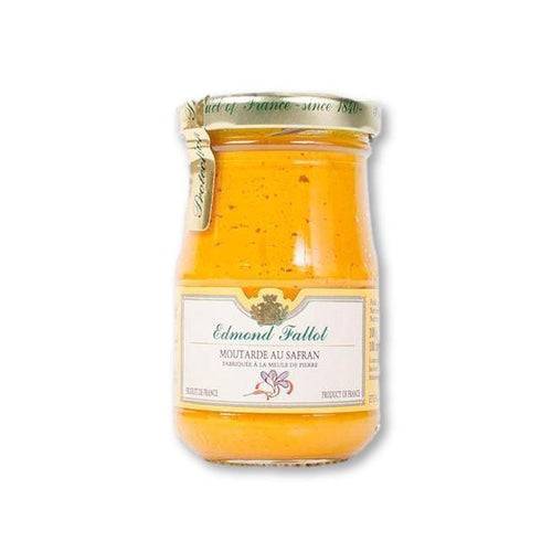 Edmond Fallot Saffron Mustard 7.4 Oz (210G) - Mustard - La Courtisane Gourmet Food