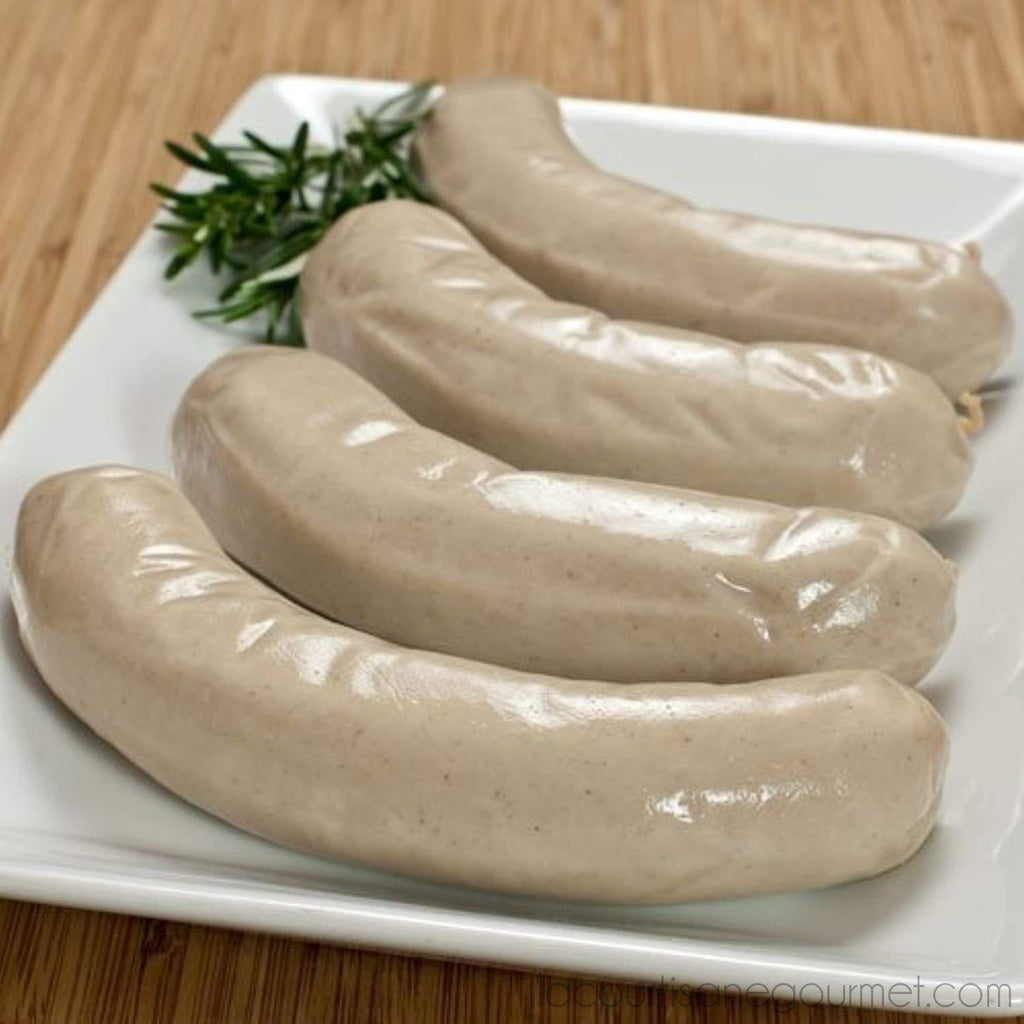 Fabrique Delices - All Natural Boudin Blanc Sausages 4 Links 1Lb (453G) - Sausage - La Courtisane Gourmet Food