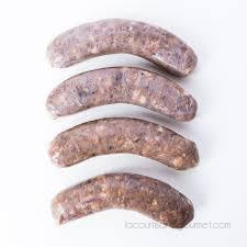 Fabrique Delices - Duck Sausages With Figs And Brandy - 4 Links - 1Lb (453G) - Sausage - La Courtisane Gourmet Food