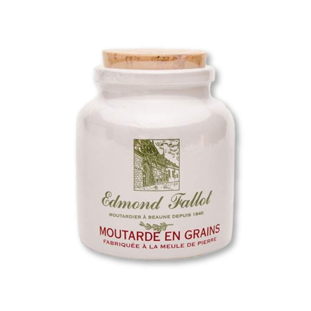 Fallot French Dijon Old Fashioned Grain Mustard In Stone Jar Crock 9 Oz - - La Courtisane Gourmet Food