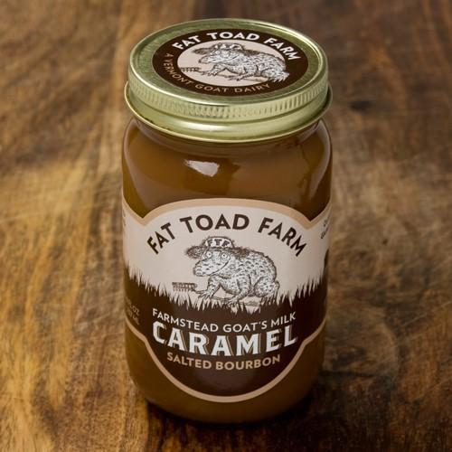 Fat Toad Farm - Salted Bourbon Goats Milk Caramel 8 oz - Spread - La Courtisane Gourmet Food