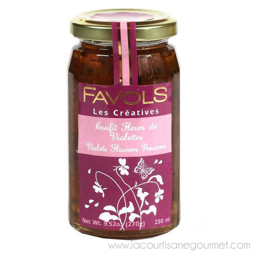 Favols - Confit of Violet Petals French Jam, 270g Jar - Jam - La Courtisane Gourmet Food
