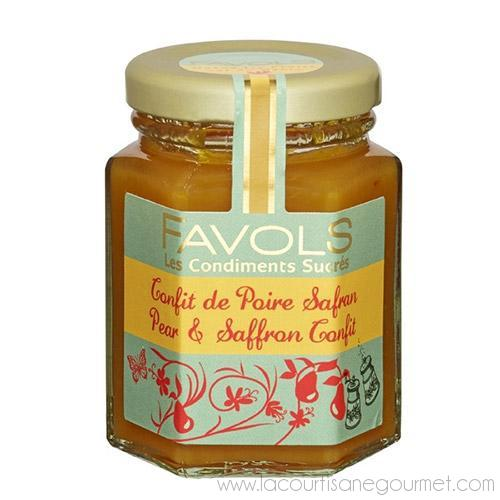 Favols - Pear & Saffron Confit 4.2 oz - Spread - La Courtisane Gourmet Food