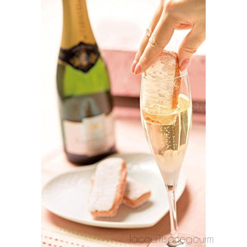 Fossier - Biscuits Roses - Pink Champagne Biscuits- 3.52Oz (100 G) - cookies - La Courtisane Gourmet Food