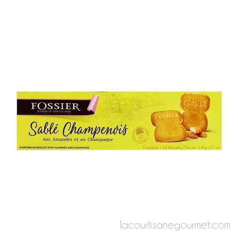 Fossier - Champagne & Almond Cork Shortbread Biscuits 2X6 Biscuits - 4,7Oz (135G) - cookies - La Courtisane Gourmet Food