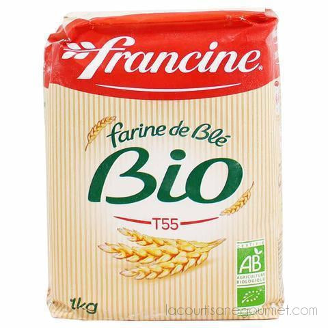 Francine Organic French Wheat Flour T55 - 2.2 Lbs. (1Kg) - wheat flour - La Courtisane Gourmet Food
