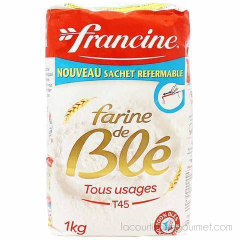 Francine Wheat Flour T45 - 2.2 Lbs. (1Kg) - wheat flour - La Courtisane Gourmet Food