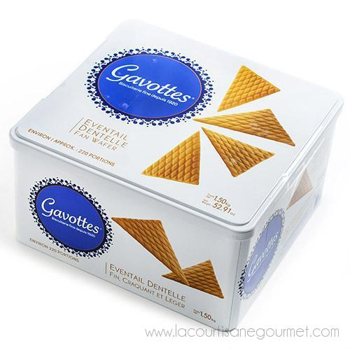 Gavottes - French Fan-Shaped Butter Wafers in Tin 52.9 oz - Wafers - La Courtisane Gourmet Food