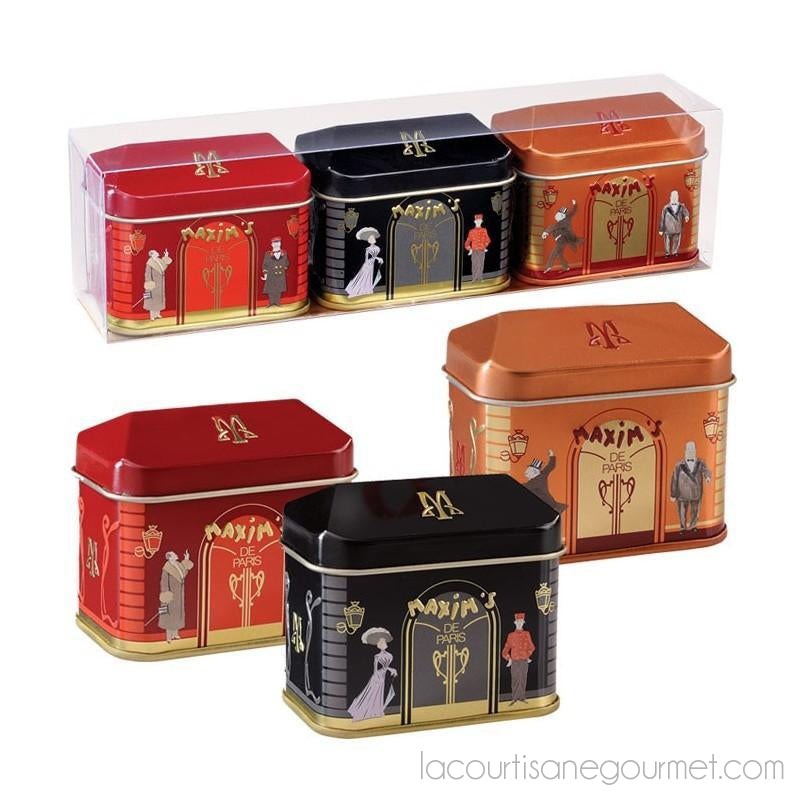 Gift - Pack 3 Mini -House Tins 2 Chocolates - Chocolate - La Courtisane Gourmet Food