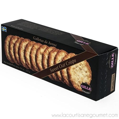 Gille - Swedish Sugared Oat Crisp Biscuits 4.4 oz - Biscuit - La Courtisane Gourmet Food