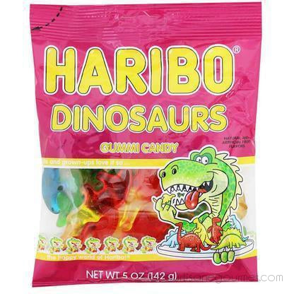 Haribo - Dinosaurs Gummi Candy 5 Oz. (142G) - - La Courtisane Gourmet Food