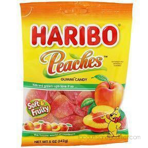Haribo - Peaches Gummi Candy 5 Oz. (142G) - - La Courtisane Gourmet Food