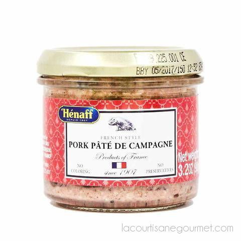 Henaff French Countryside Pork Pate 3.2 Oz (90G) - Pack Of 4 - Pate - La Courtisane Gourmet Food