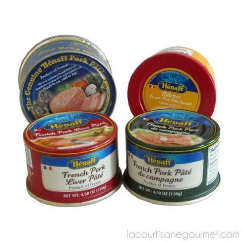 Henaff French Pate Assortment 4 Different Pates - Pack Of 2 - Pate - La Courtisane Gourmet Food