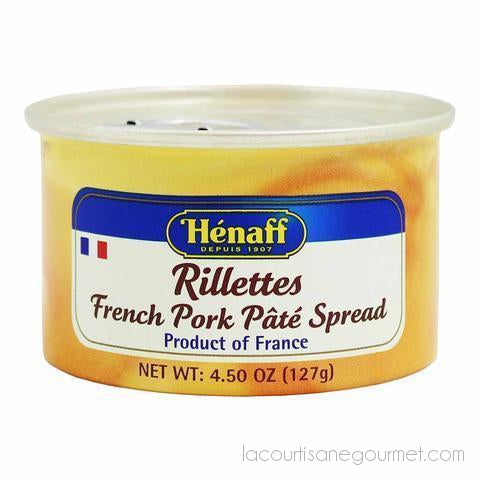 Henaff French Pork Pate Spread Rillettes 4.5 Oz. (127G) Pack Of 4 - Pate - La Courtisane Gourmet Food