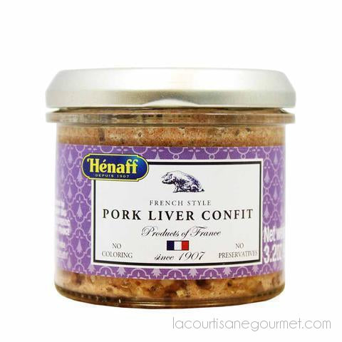 Henaff Pork Liver Confit 3.2 Oz. (90G) Pack Of 6 - Pate - La Courtisane Gourmet Food