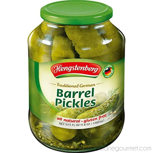 Hengstenberg - Traditional German Barrel Pickles, 57.5 Ounce - Pickles - La Courtisane Gourmet Food