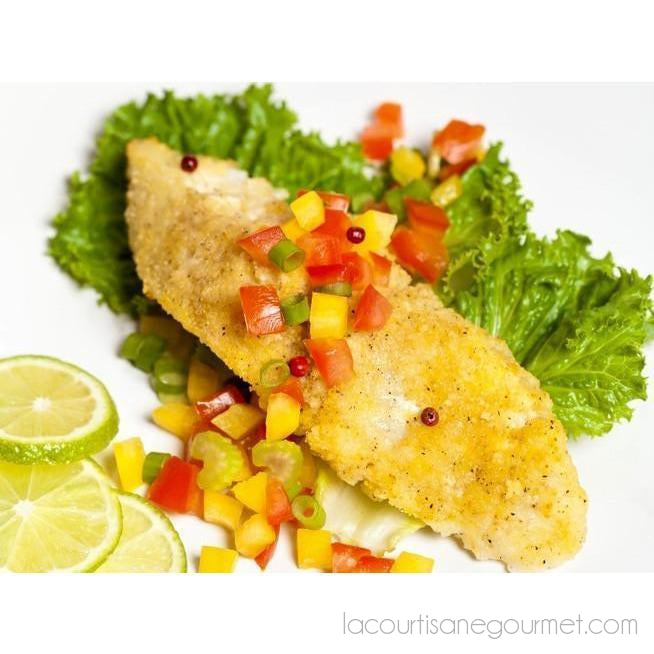 Herb Crusted Tilapia - Product - La Courtisane Gourmet Food