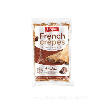 Jacquet - Chocolate French Crepes - 6.77 oz x 6 - French Crepes - La Courtisane Gourmet Food