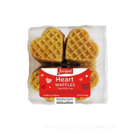 Jacquet - Heart Shaped Waffles x16 - 16 oz - Waffles - La Courtisane Gourmet Food
