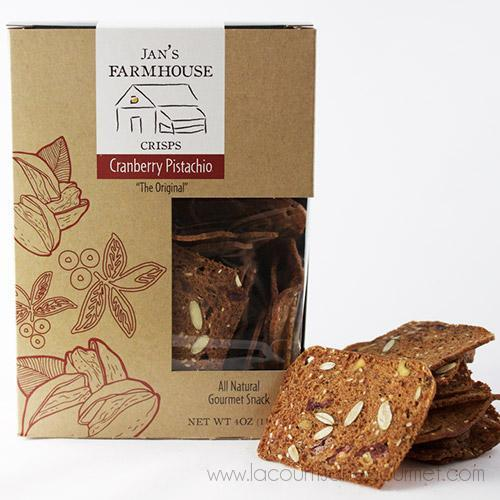 Jan's Farmhouse Crisps - Cranberry Pistachio (The Original) 4 oz - cookies - La Courtisane Gourmet Food
