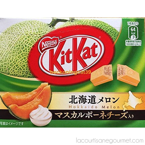 Japanese Kit Kat Hokkaido Melon Mini Bar In Box Total Net Weight 33.9G - - La Courtisane Gourmet Food