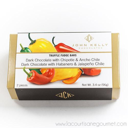 Jhon Kelly - Truffle Fudge Chile Bars 3.4 oz - Truffle - La Courtisane Gourmet Food