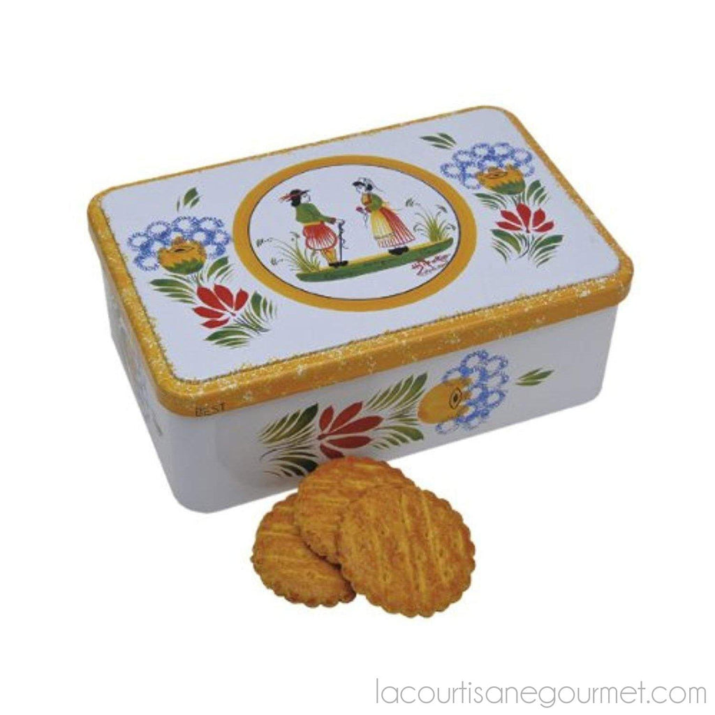 Ker Cadelac Butter Galettes In Quimper, 11.5-Ounce Tin - cookies - La Courtisane Gourmet Food