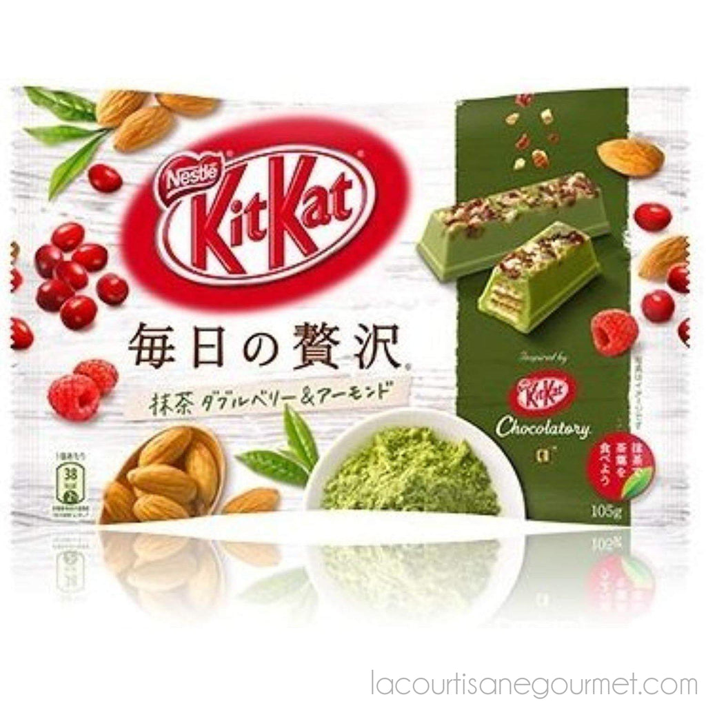"Kit Kat Chocolatory Chocolate Bar ""Every Day Of Luxury""Matcha Green Tea Double Berry & Almond Flavor - - La Courtisane Gourmet Food"