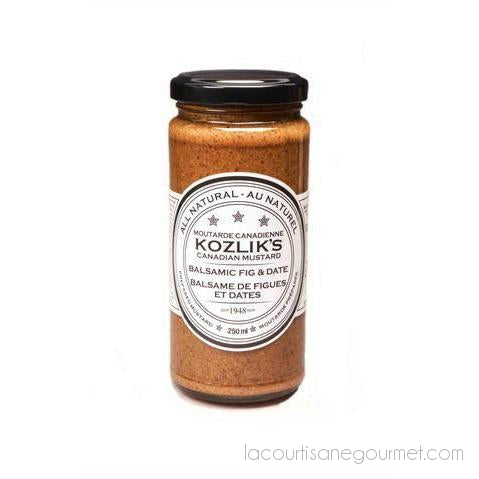 Kozliks - Balsamic Mustard With Figs And Dates 8.8 Oz - Mustard - La Courtisane Gourmet Food