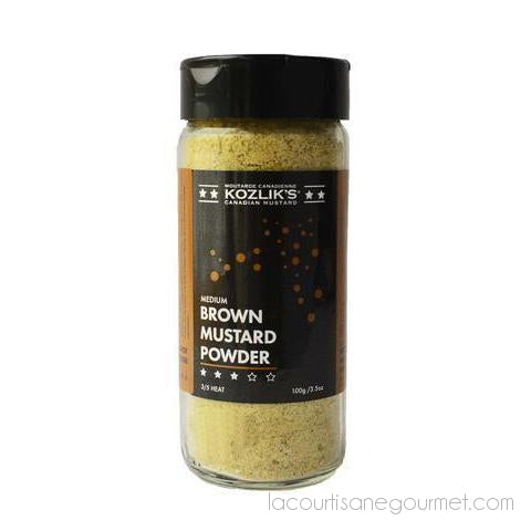 Kozlik'Z - Medium Brown Mustard Powder 250 Ml - - La Courtisane Gourmet Food