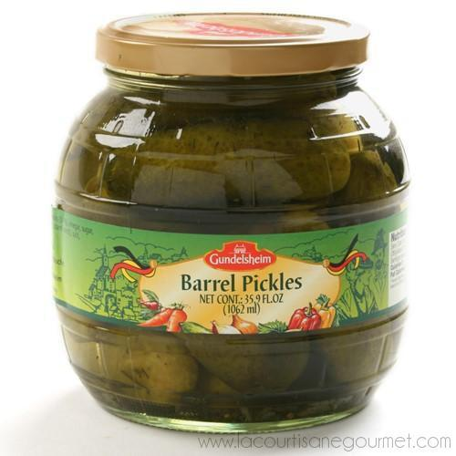 Kuhne Kosher Barrel Pickles, 35.9 fl oz (1.06 L) - Pickles - La Courtisane Gourmet Food