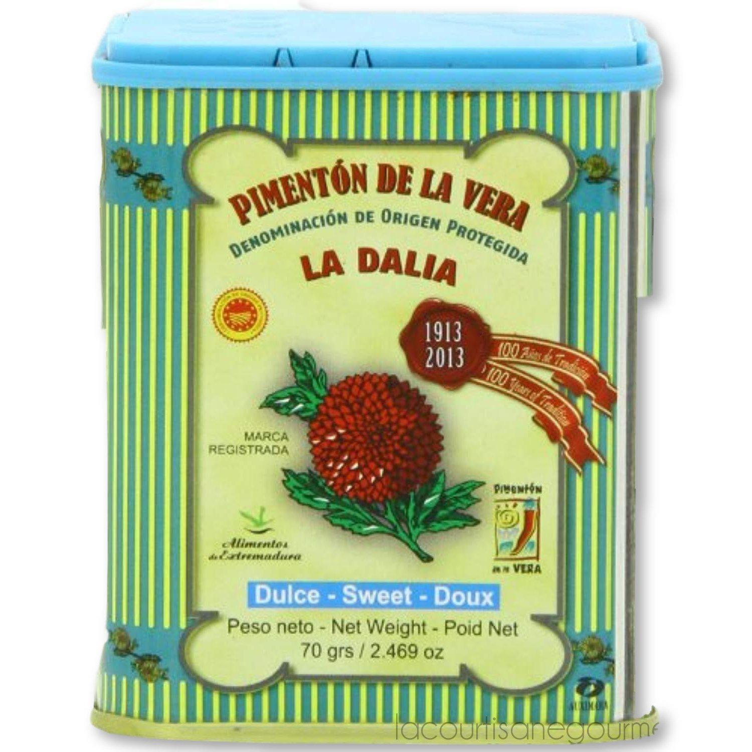 La Dalia Sweet Smoked Paprika From Spain, 2.469 Oz - - La Courtisane Gourmet Food