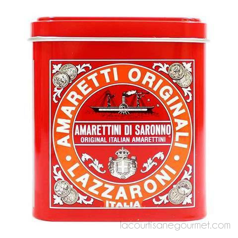 Lazzaroni - Amaretti Di Saronno, Small Tin, 4.4 Oz (125 G) - cookies - La Courtisane Gourmet Food