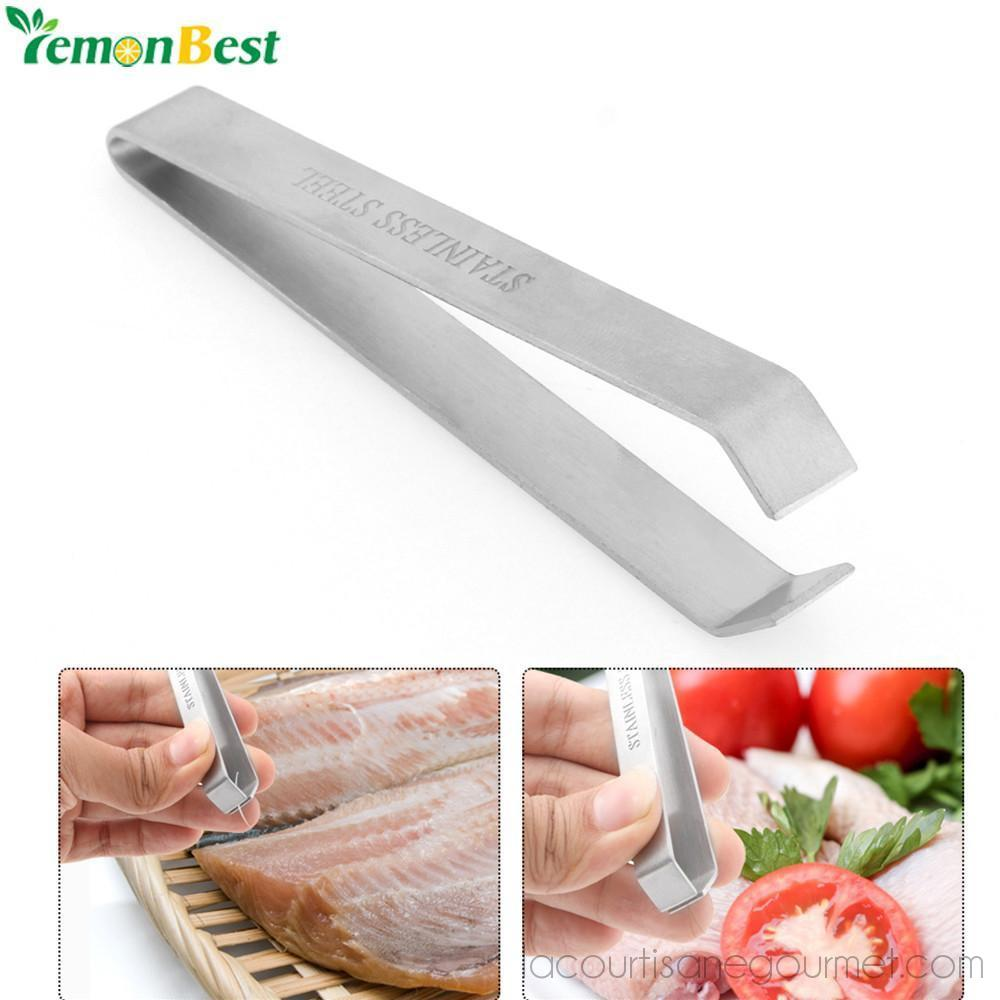 Lemonbest Stainless Steel Fish Bone Remover Pliers Pincer Puller Tweezer Tongs Pick-Up Utensils Kitchen Seafood Tool - Kitchen Ustensil - La Courtisane Gourmet Food