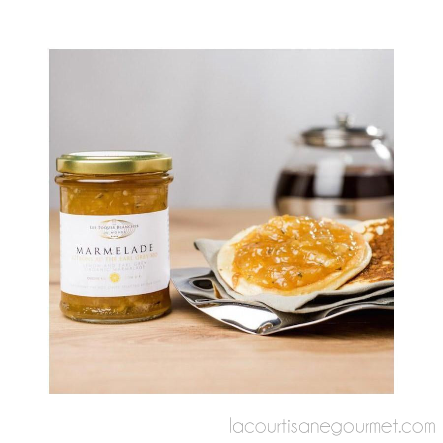 Les Toques Blanches Du Monde - Organic Lemon And Earl Grey Marmalade 8.81Oz (250G) - Preserve - La Courtisane Gourmet Food