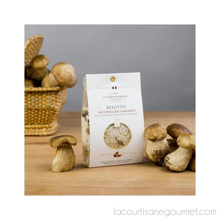 Les Toques Blanches Du Monde - Risotto With Porcini Mushrooms 8.82Oz (250G) - Risotto - La Courtisane Gourmet Food