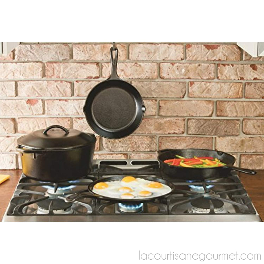 Lodge 12 Inch Cast Iron Skillet. Pre-Seasoned Cast Iron Skillet - Skillet - La Courtisane Gourmet Food